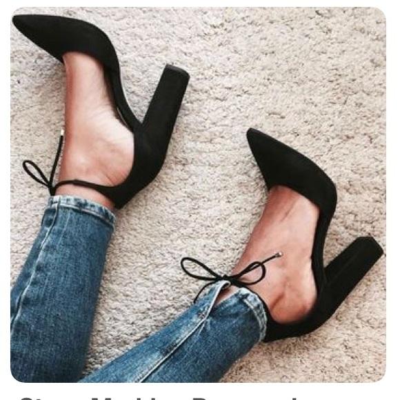 6391eadc48 STEVE MADDEN Pamperd Dorsay Block Heels Size 7. M_5aeb74cda6e3eabe13c55cbf